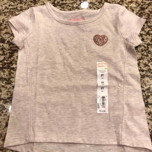 05afeabc5e34 Jumping Beans Shirts & Tops | Nwt 2t Baby Girl Heart Tee | Poshmark